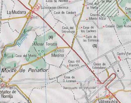 MAPA ANTIGUO DE LA ZONA MONTES TOROZOS