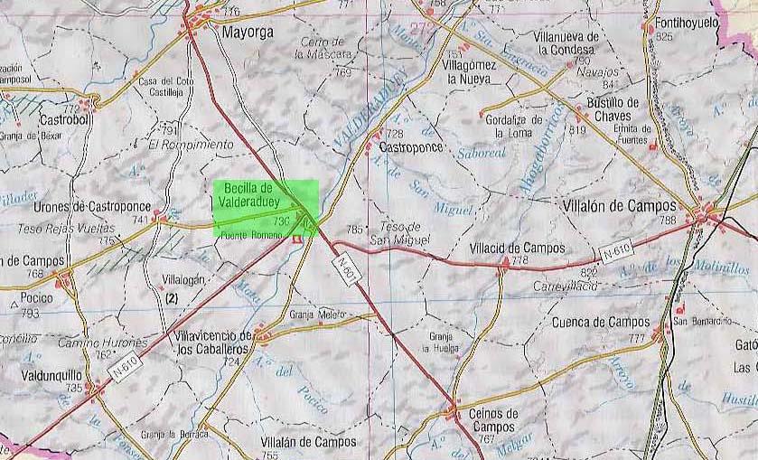Localización en el mapa de la Época