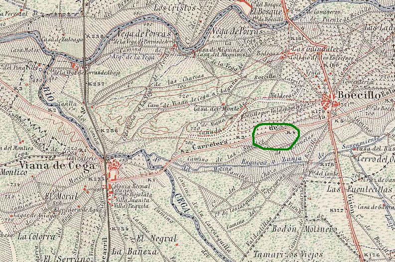 posible localización de la fosa de Heliodoro Palacín